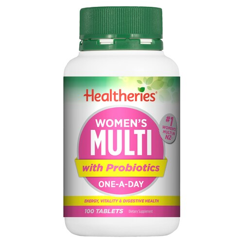Healtheries Women's Multi with Probiotics One-A-Day 100 Tablets