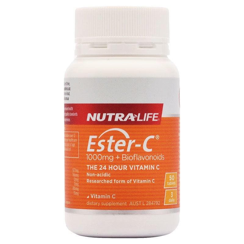 Nutra-Life Ester C + Bioflavonoids 1000mg 50 Tablets