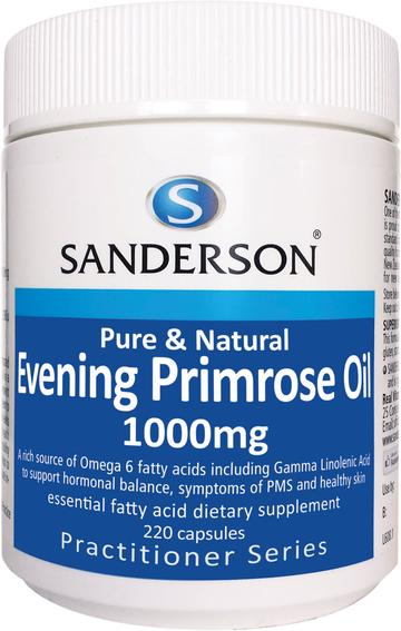 SANDERSON Evening Primrose Oil 1000mg