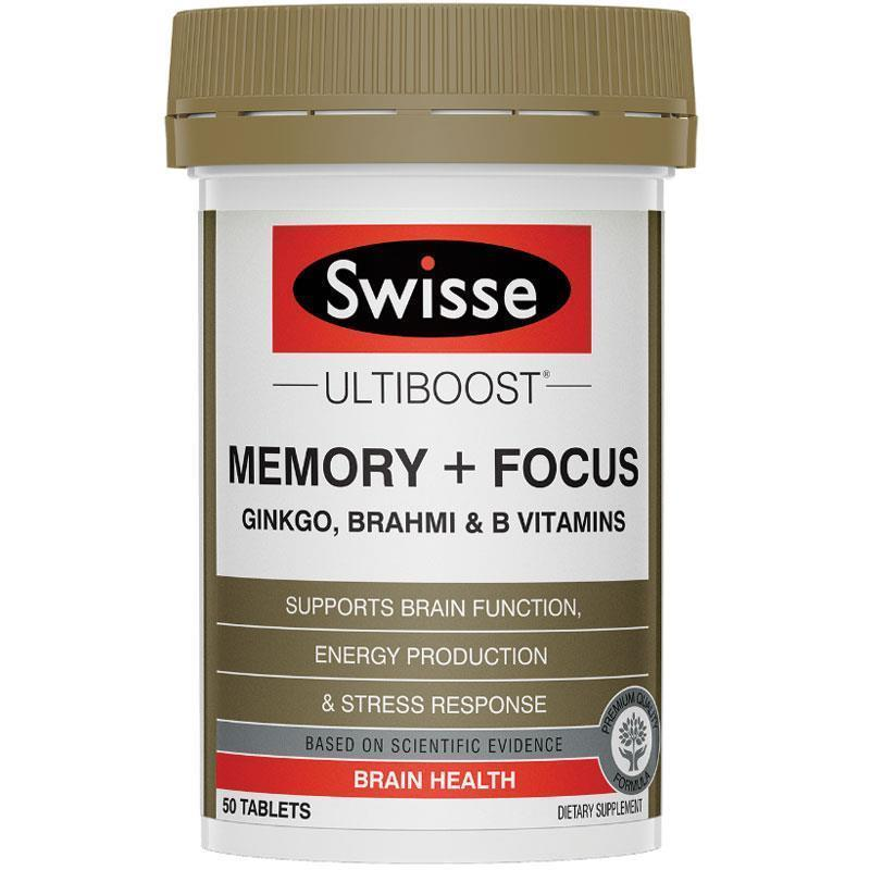 Swisse Ultiboost Memory & Focus 50 Tablets