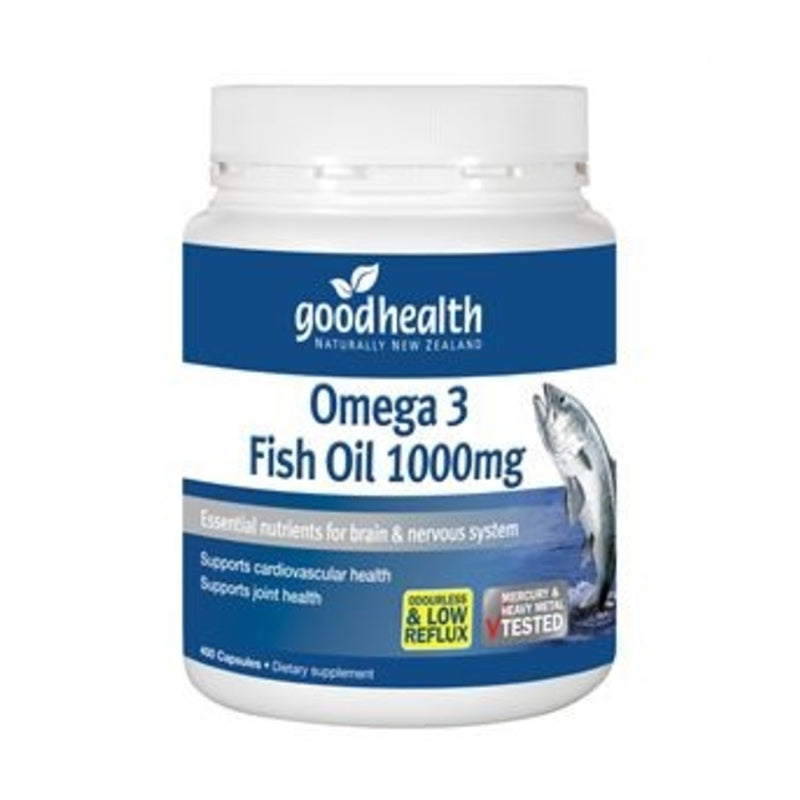 Good Health Omega-3 Fish Oil 1000mg Capsules 400