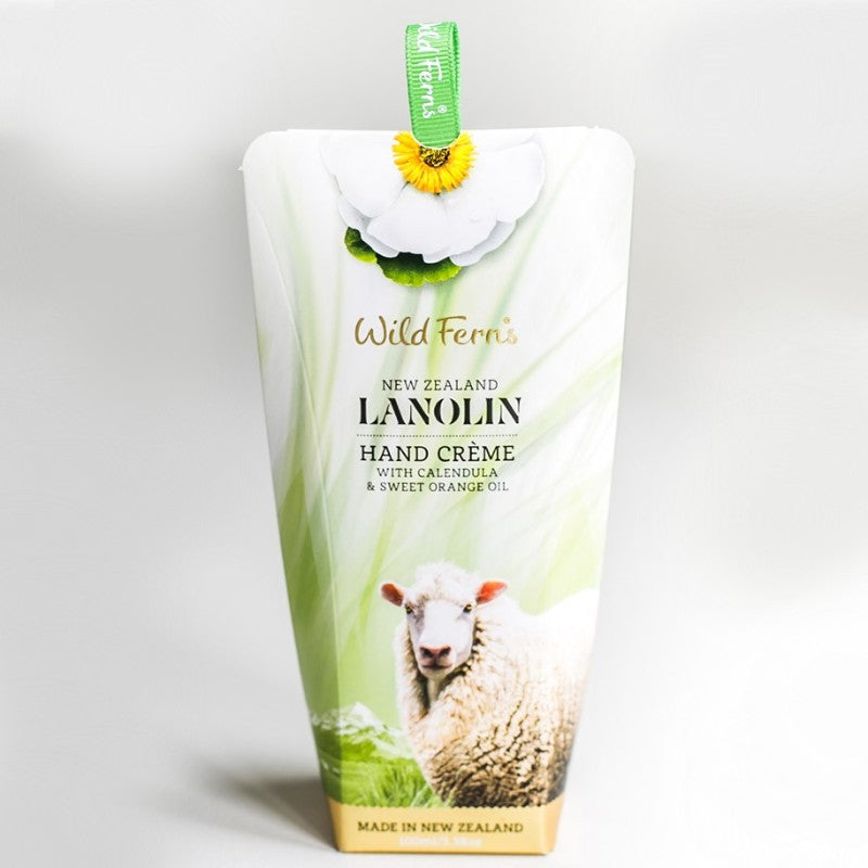 Wild Ferns Lanolin Hand Creme with Calendula and Sweet Orange Oil 100ml