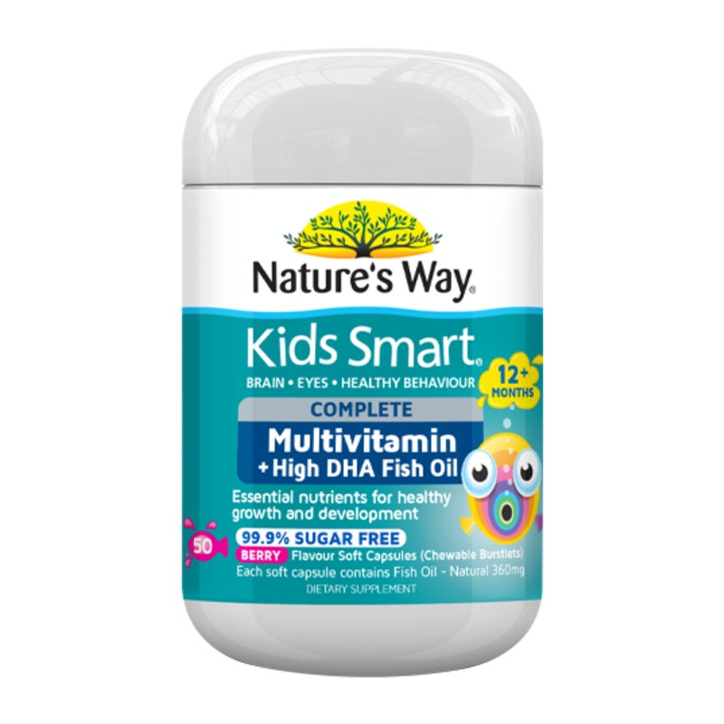 Nature's Way Kids Smart Complete Multivitamin + Fish Oil Capsules 50
