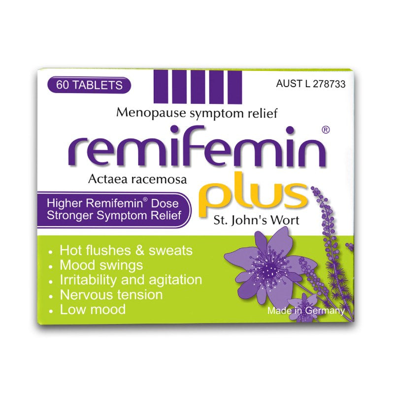 Remifemin Plus St Johns Wort Menopause 60 Tablets