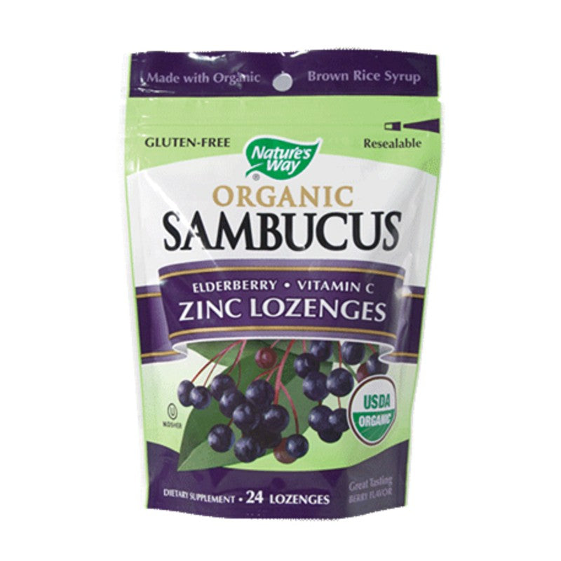 Nature's Way Organic Sambucus Lozenges 24