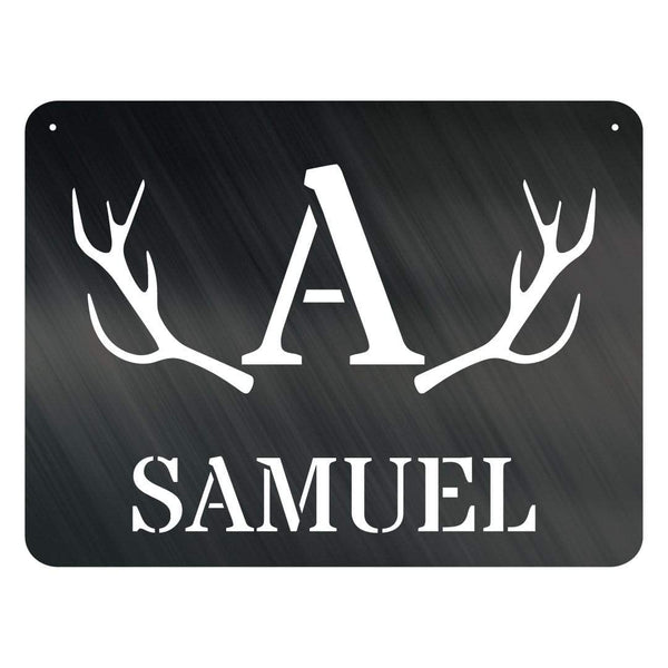 Antler Plaque Monogram