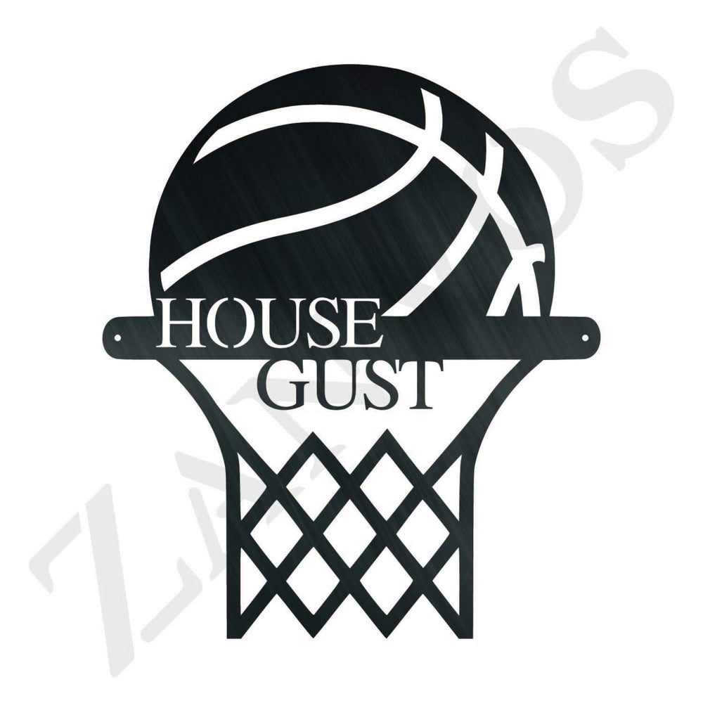 Basketball Hoop Monogram