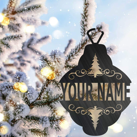 Christmas Ornament Monogram