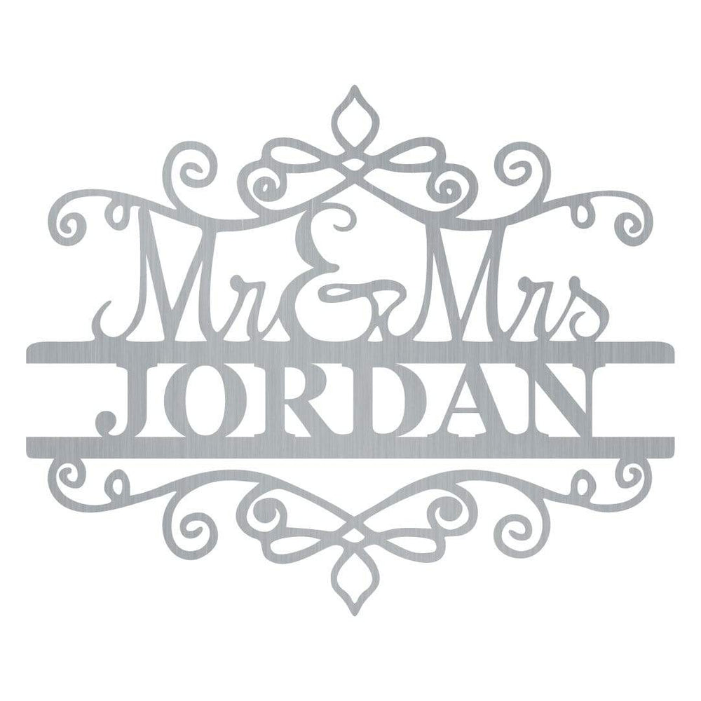 Mr & Mrs Spiral Monogram