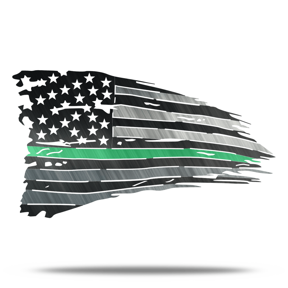 Distressed Green Line Battle Flag