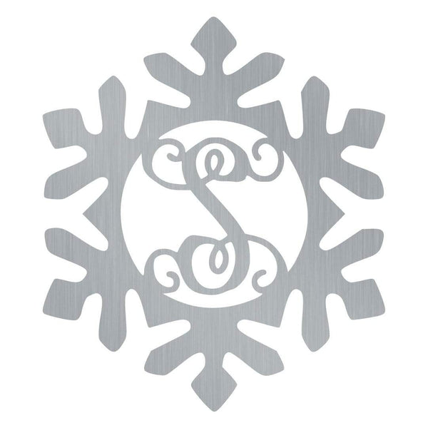 Snow Flake Swirl Monogram