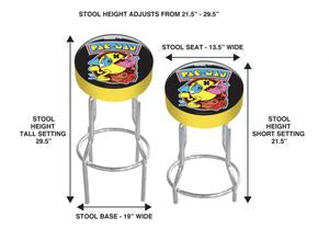Arcade1Up Pac-Man Adjustable Stool
