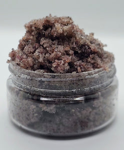 Pink and black fine sea salt. sugar scrub. great for skin removing dead skin cells.
