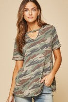 Sylinda Camo Knit Top