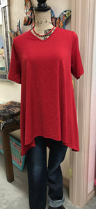 Red High Low Shirt L&B
