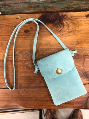 Suede Leather Cross Body Purse