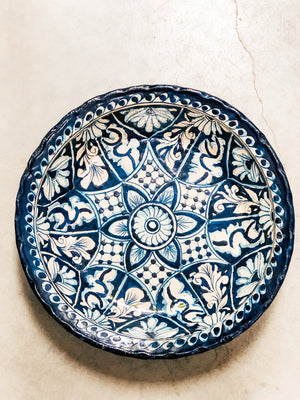 Talavera Traditional Blue Large Bowl Can - MUST PICK UP