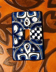 Traditional Blue Talavera Light Plate - MUST PICK UP