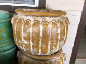 Mustard Yellow Scalloped & Oval Pots - MUST PICK UP