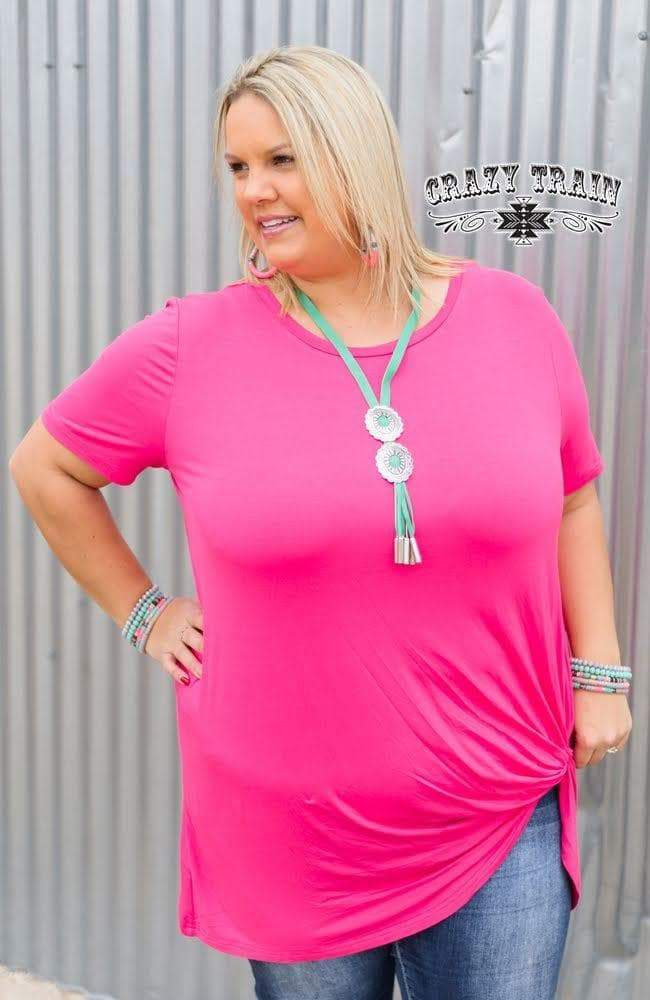 Bright Pink Knot Top