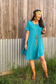 Teal Flutter Dress by L&B