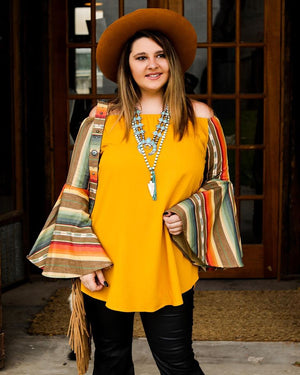 Yellow Bell Serape Top