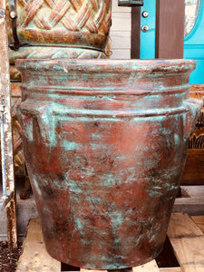Turquoise Patina Large Pot - Must Pick Up