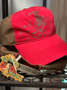 Red Rodeo Quincy baseball cap/ hat