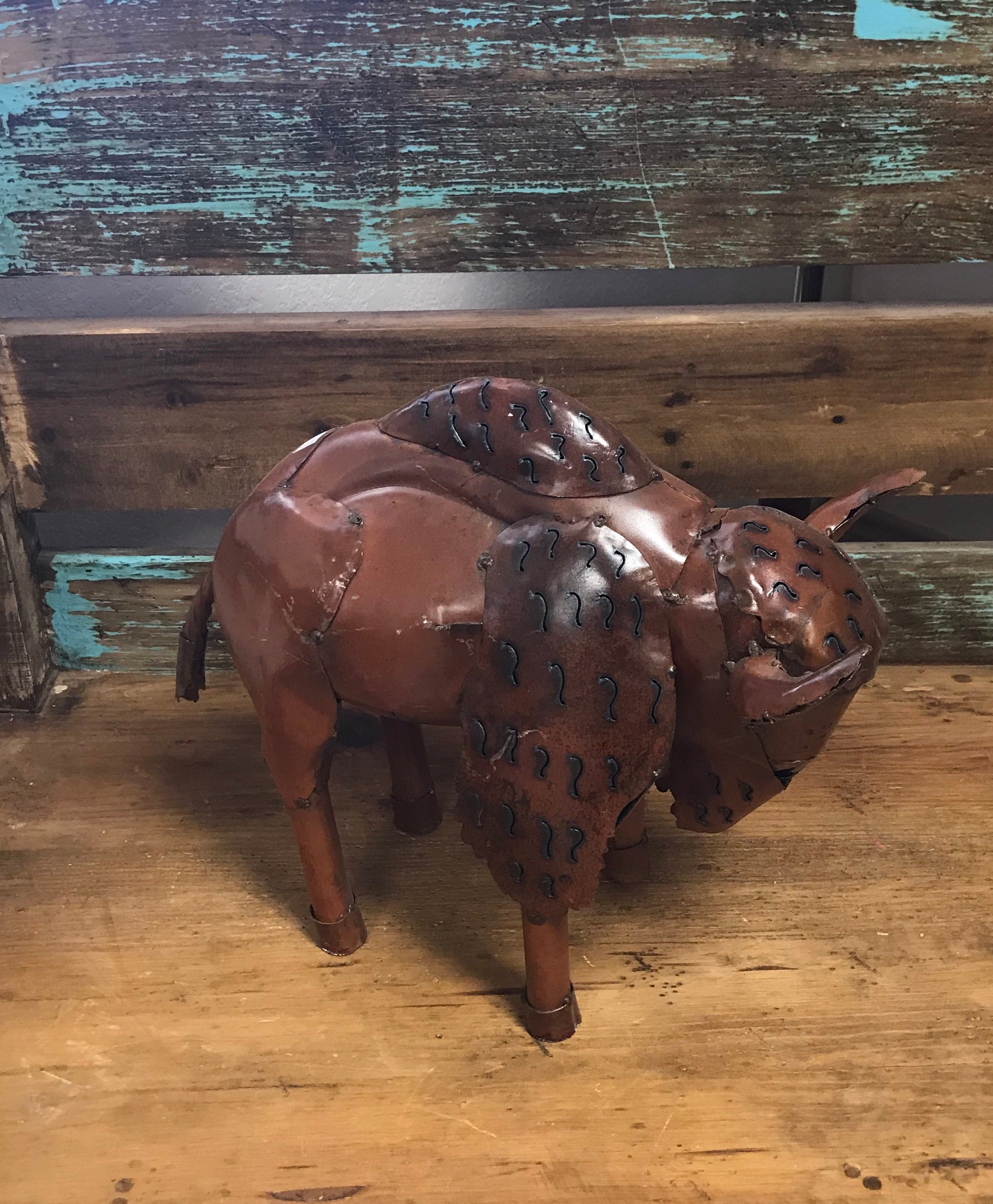 Small Metal Buffalo Bison Metal Decor - Must Pick Up
