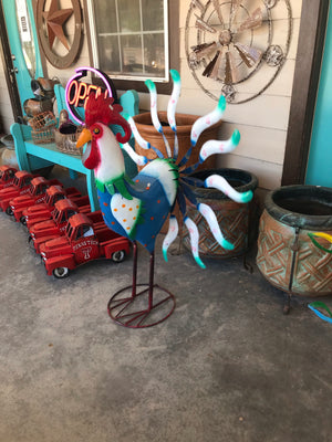 Blue Rooster Spinning Spinner - MUST PICK UP
