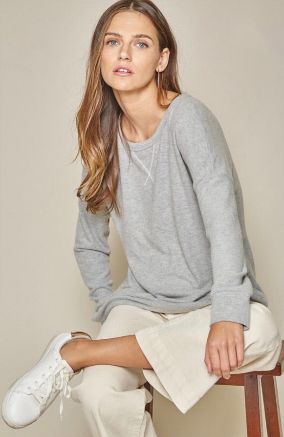 Light Grey Long Sleeve Top