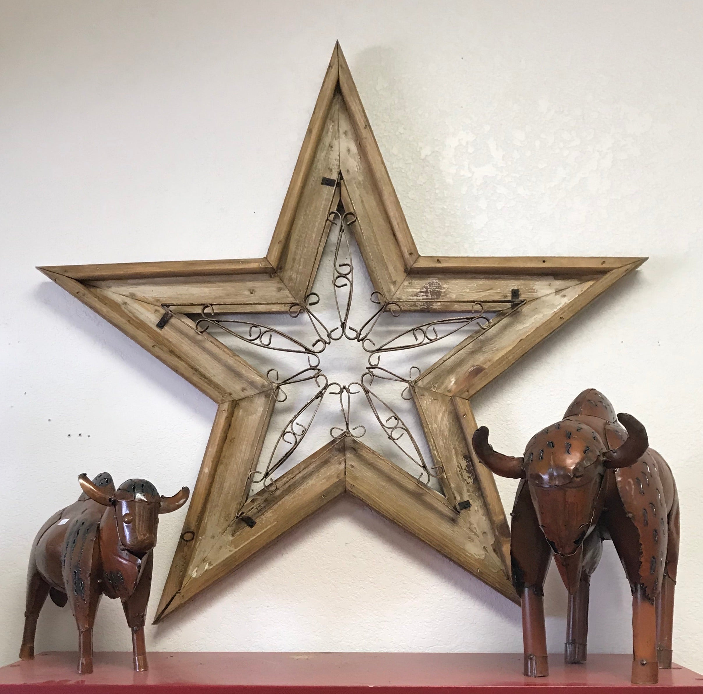 Wooden Metal Home Decor Art Star - Must Pick Up