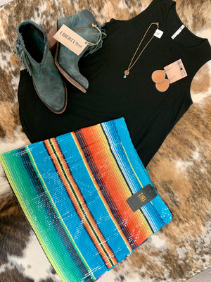 Serape print sequin skirt from L&B