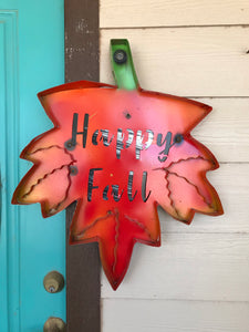 Happy Fall Metal Art - Pick Up