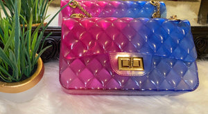 Jelly Purse Pink/Blue