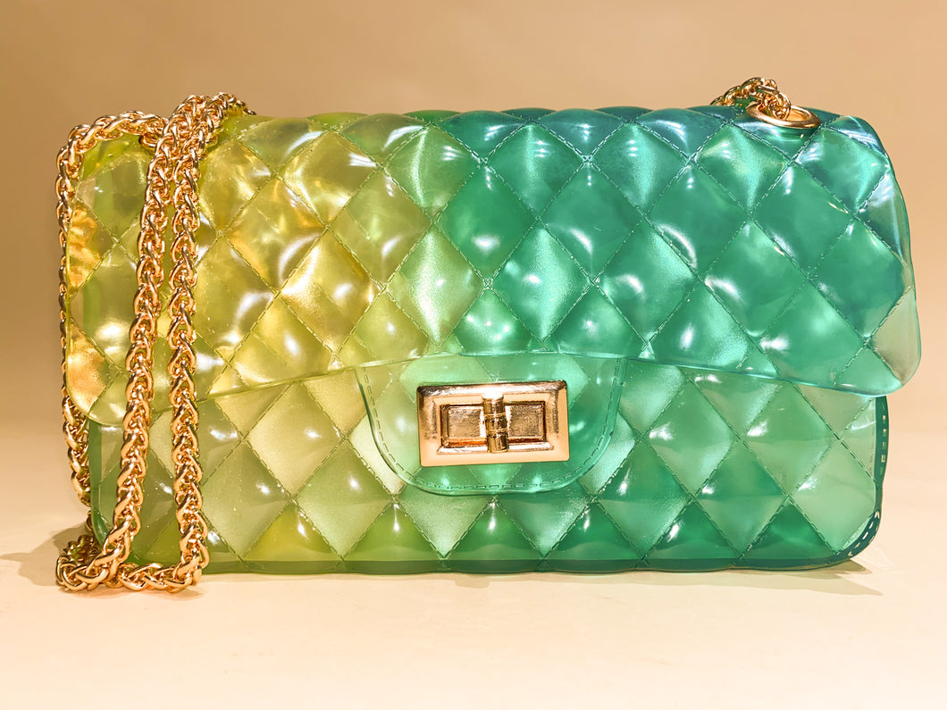Jelly Purse Yellow/Green
