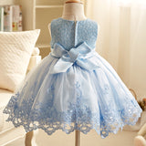 Blue Elegant Princess Dress For Big Ocassions