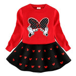 Long sleeve Minnie  Top with Skirt 2-Piece set