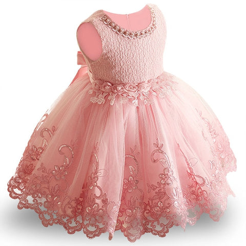 Pink Elegant Princess Dress For Girl 3-10YRS