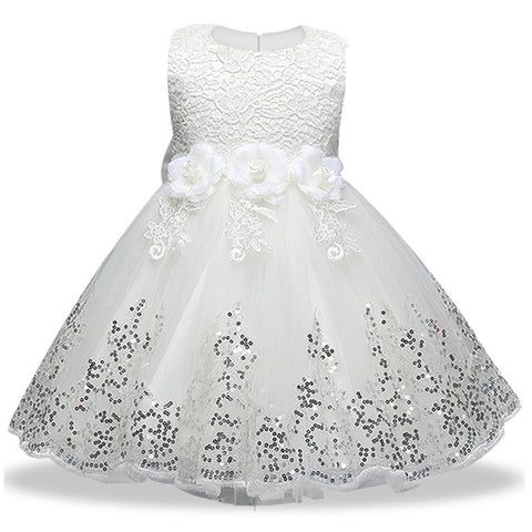 White Elegant Occasion Dress 3-10YRS