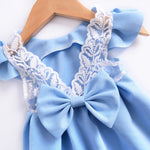 3 Pieces Blue Summer Baby Girls Dress