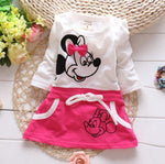 Minnie Mouse Print Summer Girls Dress 6M-24M