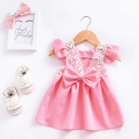 3 Pieces Pink Summer Baby Girls Dress