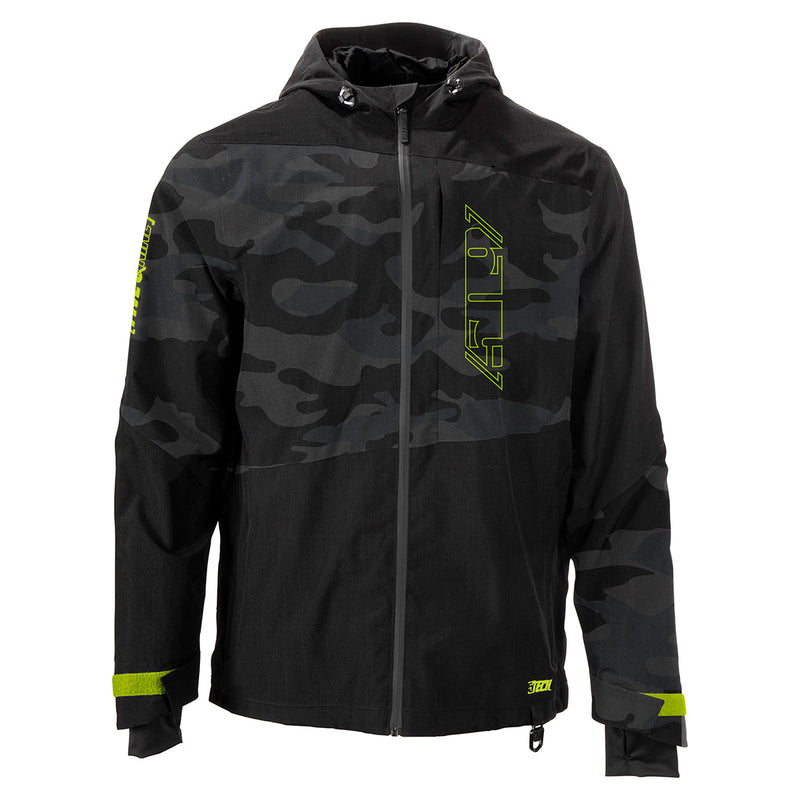 SALES SAMPLE: 509 LE Black Camo Forge Jacket Shell (LG)