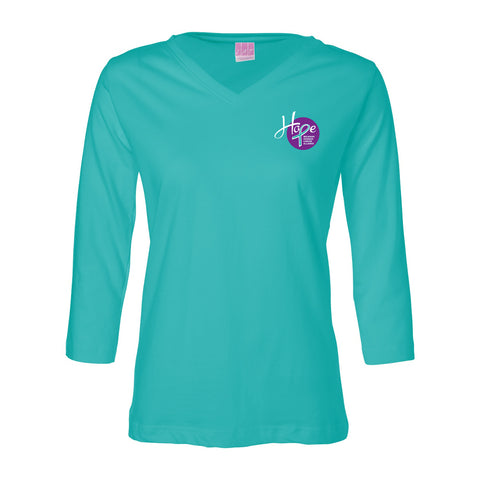 Hope 3/4-sleeve shirt - Teal
