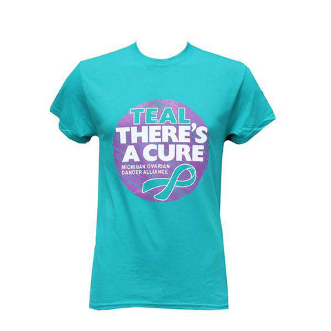 Teal There's a Cure (unisex) - Teal