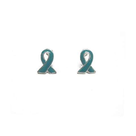 MIOCA Teal Ribbon Earrings