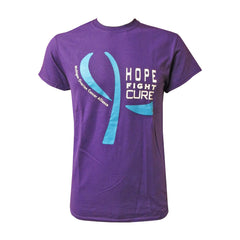 Gildan Teal Hope/Fight/Cure T-Shirt - Purple