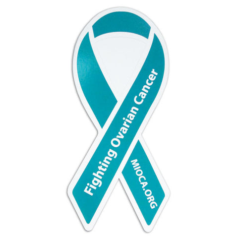 MIOCA Teal Ribbon Window Cling