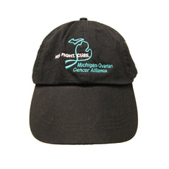 Michigan Teal Ribbon Hat- Black